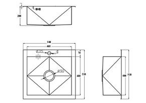 Кухонная мойка ZORG ZX-5451
