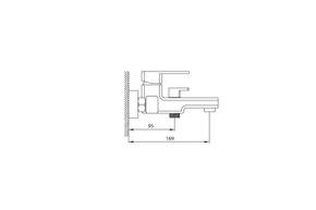 Смеситель Elghansa MONDSCHEIN NEW 2320233 для ванной однорычажный с душевым комплектом, хром