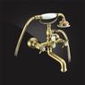 Смеситель Elghansa PRAKTIC BRONZE 2322660-Bronze для ванны двухвентильный с душевым комплектом, бронза