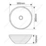 Керамическая раковина Melanа MLN-T4004-B5, персиковая