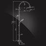 Душевая система Elghansa MONDSCHEIN NEW 2330233-2D со стационарной лейкой 250 мм, хром