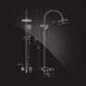 Душевая система Elghansa DYNAMIC 2336338-2D со стационарной лейкой 250 мм, хром