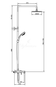 Душевая система Elghansa однорычажная 2336583-2С (Set-20),хром
