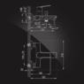 Смеситель Elghansa WELLESLEY 2344844 для ванны однорычажный с душевым комплектом, хром