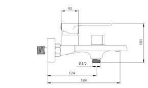 Смеситель Elghansa HEFFEN 2352520 для ванной однорычажный с душевым комплектом,хром