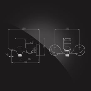 Смеситель Elghansa BERKSHIRE 2372743 для ванной однорычажный с душевым комплектом, хром