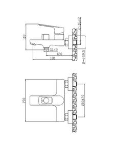 Смеситель для ванны Elghansa BRUNN New 2382306