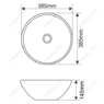 Керамическая раковина Melanа MLN-T4005-B12, охра