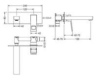 Керамический унитаз безободковый CeramaLux TR2196-18,черный