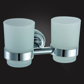 Держатель стаканов двойной Elghansa CARRINGTON CRG-420 стекло, хром