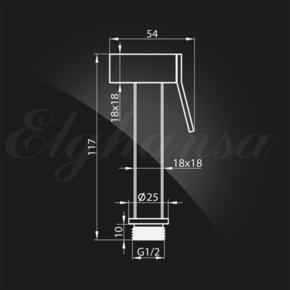 Гигиенический душ Elghansa SHOWER SPRAY BM-02-Chrome для биде с держателем, хром