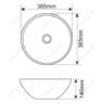 Керамическая раковина Melanа MLN-T4005-B5, персиковая