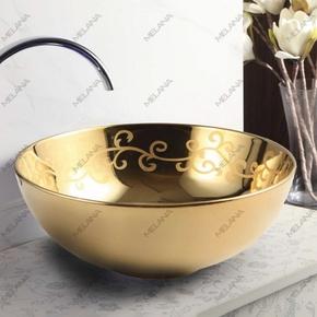 Керамическая раковина Melanа MLN-T4005-G25, золото