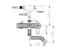 Смеситель для ванны Zorg A 400W-BR