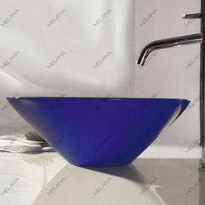Керамическая раковина Melanа MLN-T4006-B1, синяя