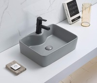 Керамическая раковина для ванной Ceramalux 7291MH-5 Светло-серый