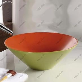 Керамическая раковина Melanа MLN-T4006-B8+B3, салатово-красная