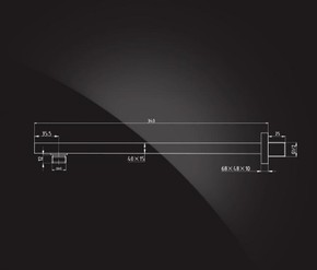 Кронштейн для верхнего душа 340х40х15 мм Elghansa CR-53, хром