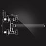 Смеситель Elghansa NEW WAVE ZETA 2707592 для ванны двухвентильный с д/к, хром