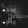 Смеситель Elghansa NEW WAVE DELTA 2707593-20 для ванны двухвентильный с д/к, хром