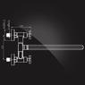 Смеситель Elghansa NEW WAVE DELTA 2707593 для ванны двухвентильный с д/к, хром