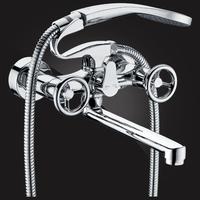 Смеситель Elghansa NEW WAVE SIGMA 2707595-20 для ванны двухвентильный с д/к, хром