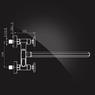 Смеситель Elghansa NEW WAVE SIGMA 2707595 для ванны двухвентильный с д/к, хром