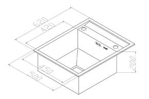 Кухонная мойка Zorg X-6250