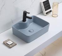 Керамическая раковина для ванной Ceramalux 7291MHL-4 голубой