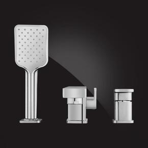 Смеситель Elghansa MONDSCHEIN 2830235 для ванны на 3 отверстия однорычажный, хром