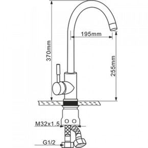 Смеситель для кухни Melana MLN-F2861