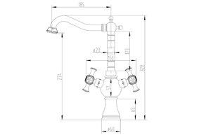 Смеситель для кухни Zorg A 7004K-BR
