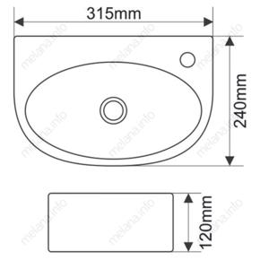 Керамическая раковина Melanа MLN-E601