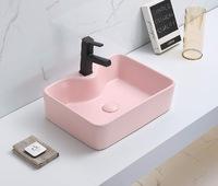Керамическая раковина для ванной Ceramalux 7291MP-3 розовый