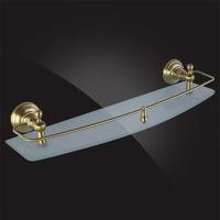 Полка для ванной Elghansa PRAKTIC Bronze Accessories PRK-550-Bronze 50 см, стекло, бронза