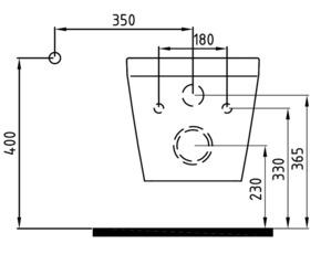 Унитаз подвесной безободковый Bien Neptun NPKA052N1VE0W3000 со встроенным смесителем
