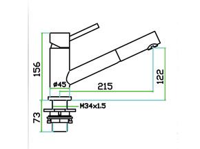 Смеситель для кухни с вытяжной лейкой Zorg SZR-1361P WEGA