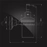 Дозатор для жидкого мыла Elghansa CARRINGTON CRG-470-New стекло, хром