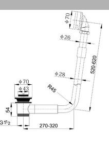Обвязка для отдельно стоящей ванны Timo 8006/00 Хром