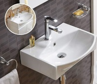 Керамическая раковина для ванной Ceramalux 78014C белый