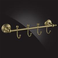 Крючки для ванной Elghansa PRAKTIC Bronze Accessories PRK-640-Bronze с 4 крючками, бронза