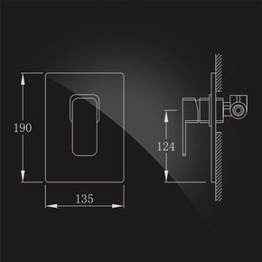 Смеситель Elghansa MONDSCHEIN NEW 3420233-BR07 скрытого монтажа для биде, хром