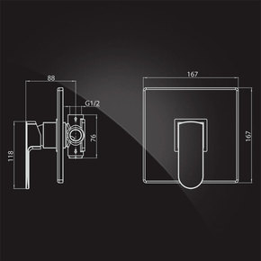 Смеситель Elghansa SCARLETT 3422225 однорычажный для скрытого монтажа, хром
