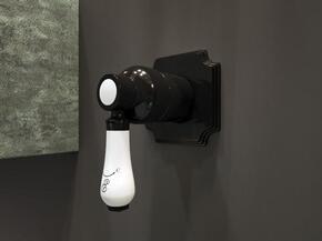 Смеситель Elghansa TERRAKOTTA 34C0786-Black (Set-84) встраиваемый однорычажный, черный