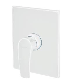 Смеситель Elghansa MONICA WHITE 34K1119-White для скрытого монтажа однорычажный без душевого комплекта, белый