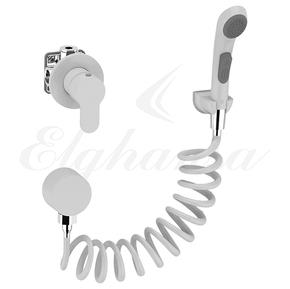 Смеситель Elghansa 34R0583-White (Set-51) для скрытого монтажа однорычажный, белый