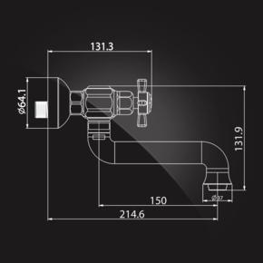 Смеситель Elghansa PRAKTIC CHROME 3522660 для кухни двухвентильный, хром