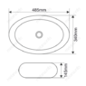 Керамическая раковина Melana MLN-A252B
