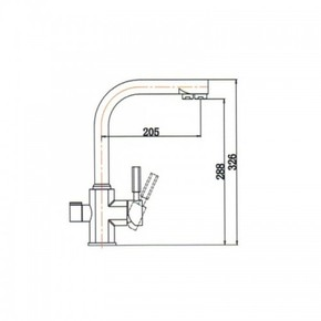 Смеситель для кухни под фильтр KAISER Decor 40144-2 Black