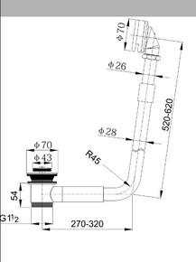 Обвязка для отдельно стоящей ванны Timo 8006/02 Антик
